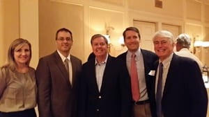 ACEC-SC representatives attended the Senator Lindsey Graham fundraiser in Charleston.